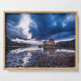 Dark Skies at Eilean Donan Castle Serving Tray