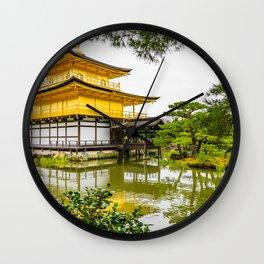 Kinkaku-ji, the golden pavilion, Kyoto Wall Clock