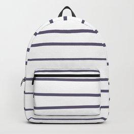 VA Mystical Purple - Metropolis Lilac - Dried Lilacs S470-5 Hand Drawn Horizontal Lines on White Backpack