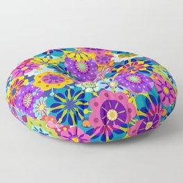 Retro Garden Floor Pillow