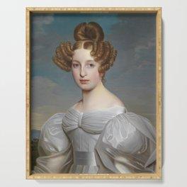 Portrait der Elise Dorothea Friederike von Schaezler by Ernst Thelott  Serving Tray