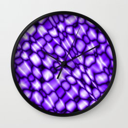 Remains of harmful vapors of the amethyst mesh from dark cracks on the glass. Wall Clock