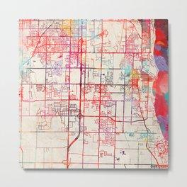 Oak Creek map Wisconsin WI Metal Print
