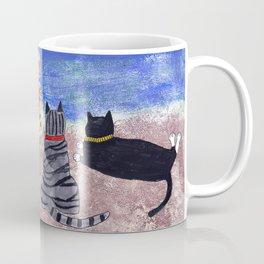 Cats on the Beach Coffee Mug