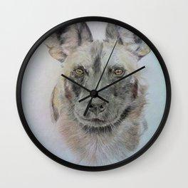 Wild African dog Wall Clock