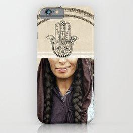 Bedouin women and hand of fatima iPhone Case