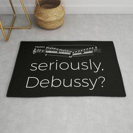 Clarinet - Seriously, Debussy? (black) Rug
