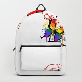 Poppy with rainbow butterfly's  Backpack