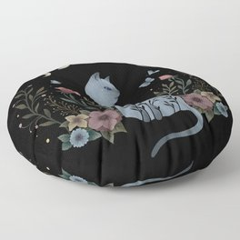 Cat on the Hill Floor Pillow