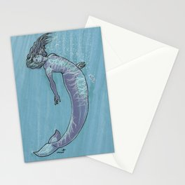 Mermaid in Blue Stationery Cards