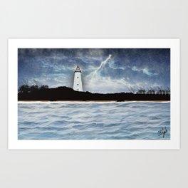 Ocracoke Island Light Station Art Print