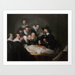 Rembrandt - The Anatomy Lesson of Dr Nicolaes Tulp Art Print