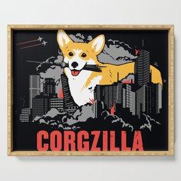 CORGZILLA Serving Tray