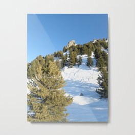 Winter mountain Metal Print