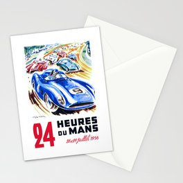 1956 24 Hours of Le Mans Race Poster Stationery Cards