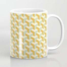 Golden Cyan Cubicle Design Coffee Mug