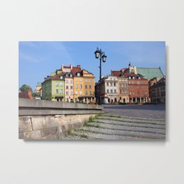 Houses in the Old Town of Warsaw Metal Print