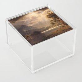 Estes Park Colorado 1869 By Albert Bierstadt | Reproduction Painting Acrylic Box