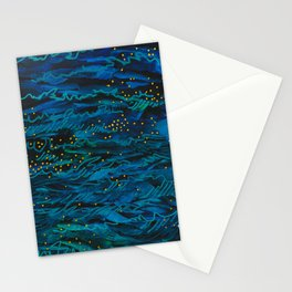 Deep Dark Waves and Light Stationery Cards