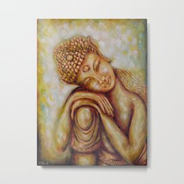 """Daydreaming Buddha Child"" Healing Art Metal Print"