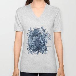 Tropical Blue Jeans Denim Pattern Unisex V-Neck