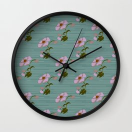 Cottage Flower Lilac & Jade Wall Clock