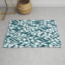 Abstract Jungle Teal Rug