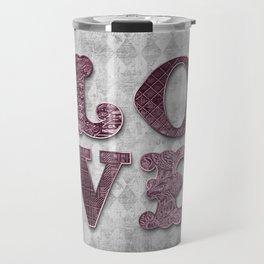 Vintage Rose Love Travel Mug