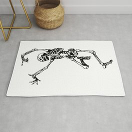 Dancing Skeleton   Day of the Dead   Dia de los Muertos   Skulls and Skeletons   Rug