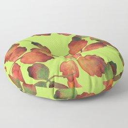 ACID & OAK, pattern by Frank-Joseph Floor Pillow