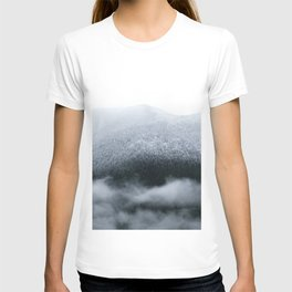 Low Hanging Fog in the Canadian Rockies T-shirt