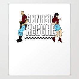 Skinhead Reggae design - Anti-Racism Trojan Skinhead Clothing Art Print