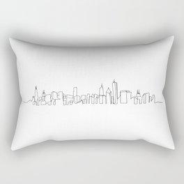 Chicago Skyline Drawing Rectangular Pillow