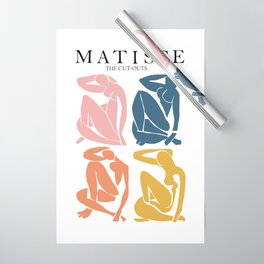 Abstract woman pastel color matisse woman artwork the cut outs Wrapping Paper