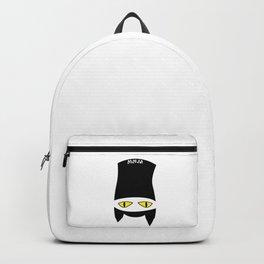 Hidden ninja kitten black cat Backpack