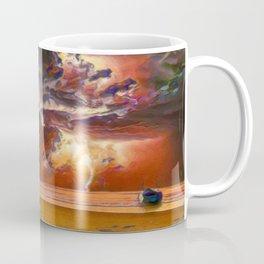 Rage Over The Ocean | Storm Beach Lightening - Oil Painting Coffee Mug