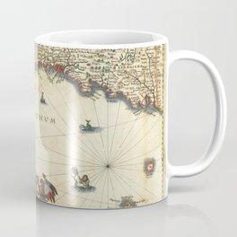 Vintage Map Print - 1640 Map of the Serene Republic of Genoa Coffee Mug