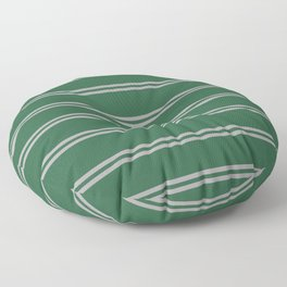 Green and Silver House Colors Stripes Floor Pillow