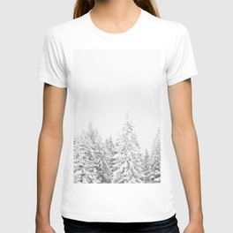 Snow Lift // Ski Chair Lift Colorado Mountains Black and White Snowboarding Vibes Photography Art Print T-shirt