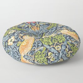 William Morris Strawberry Thief Restored Floor Pillow