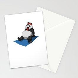 Panda Yoga T-Shirt Gift I Funny Fitness Tee Stationery Cards