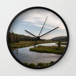 Yellowstone Fly Fishing Wall Clock