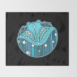 Manta Ray Biolumi Throw Blanket