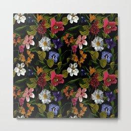 Moody Floral Garden Metal Print
