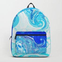 Blue Ocean Splash Backpack
