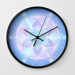 Light Frequency Mandala | Seed of Life Wall Clock