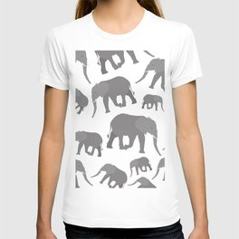 Elephant Pattern Design T-shirt