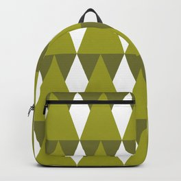 CVPA20026 Diamonds and Triangles Shades of Green Backpack