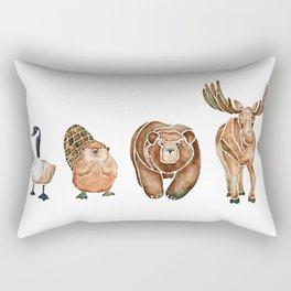 Canadian Crew   Woodland Animals Nursery Art Rectangular Pillow