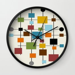 Mid-Century Modern Art 1.3 Wall Clock